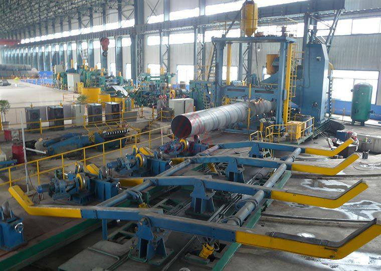 后摆螺旋焊管生产线