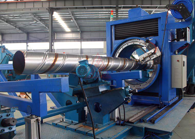 不锈钢铝合金螺旋焊管生产线
