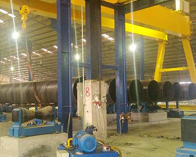马来西亚φ406-2400X25.4mm螺焊机组